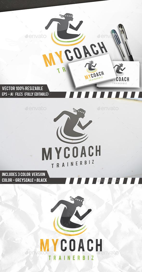 Man Coach Logo - Humans Logo Templates