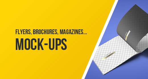 Flyers, Brochures, Cards, Magazines Mock-ups