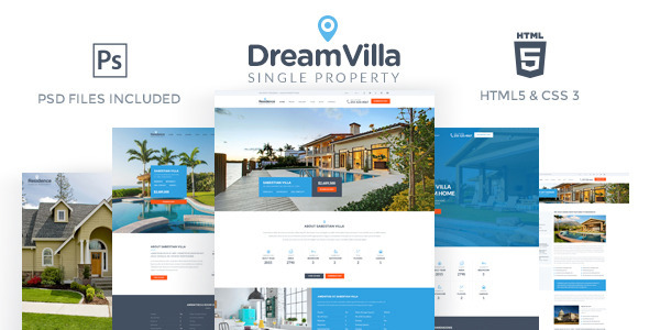 DreamVilla - Single Property HTML Template