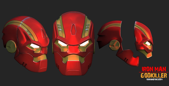 3D Model- Iron Man Godkiller - 3DOcean Item for Sale