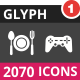 2070 Vector Inverted Glyph Icons - GraphicRiver Item for Sale