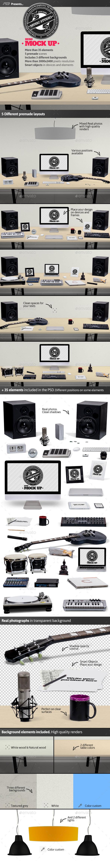Music Studio Mock Up - Hero Images Graphics