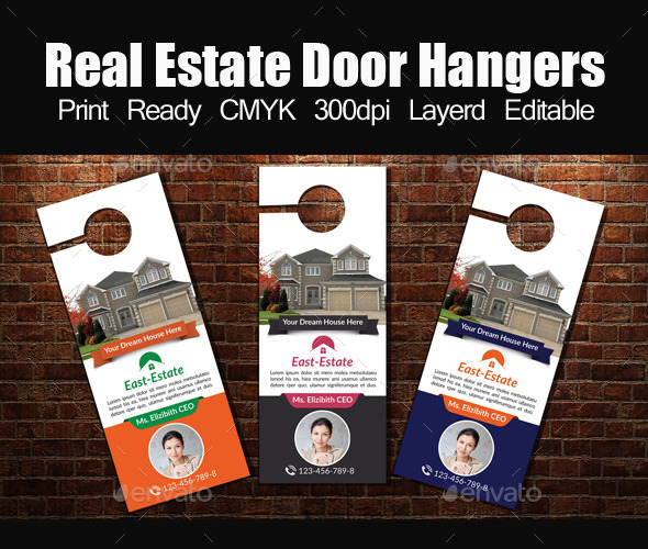 Real Estate Door Hangers Template - Miscellaneous Events