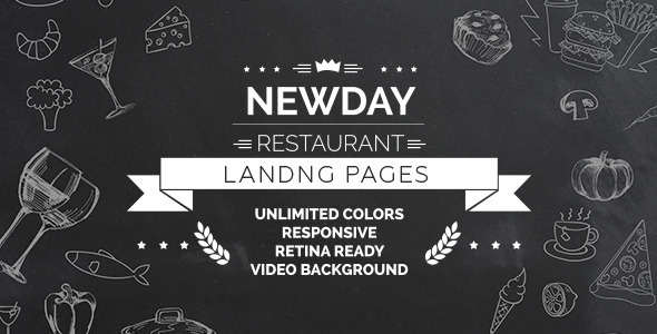 New Day - Responsive Landing Restaurant HTML - Restaurants & Cafes Entertainment
