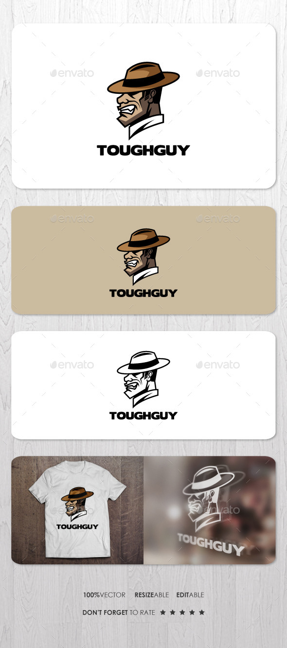 Tough Guy - Humans Logo Templates