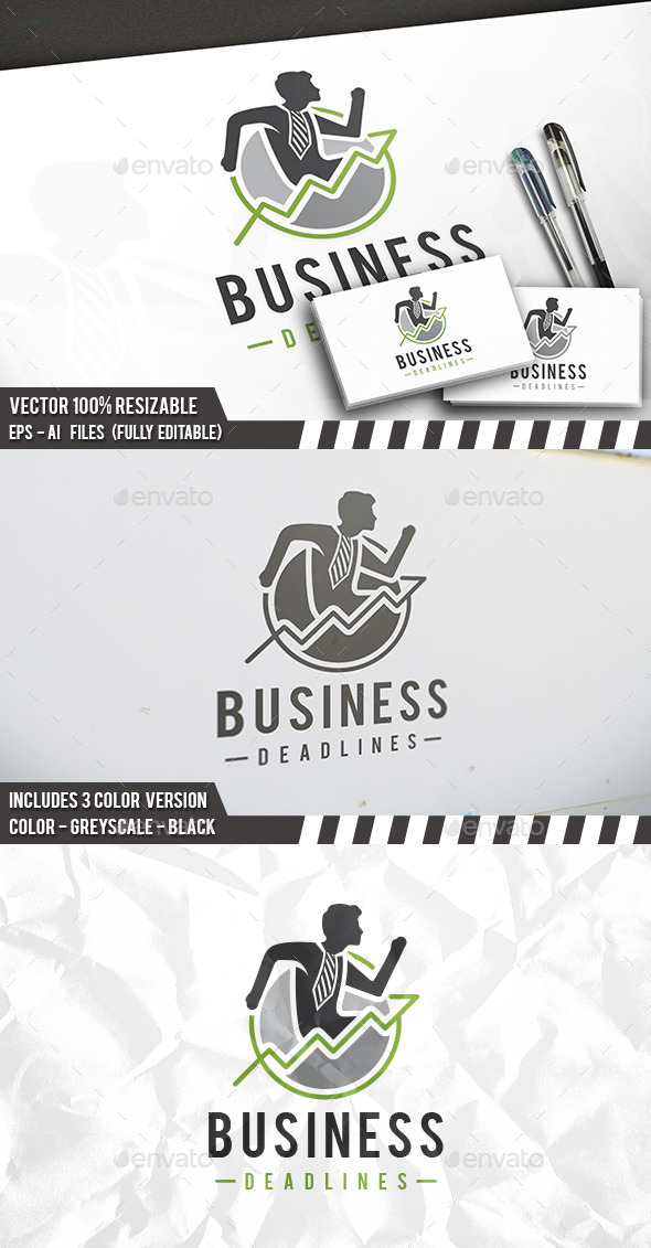 Business Deadline Logo - Humans Logo Templates