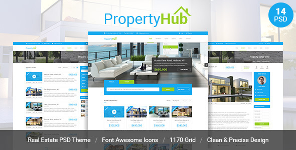 Property Hub - Real Estate PSD Theme - Business Corporate