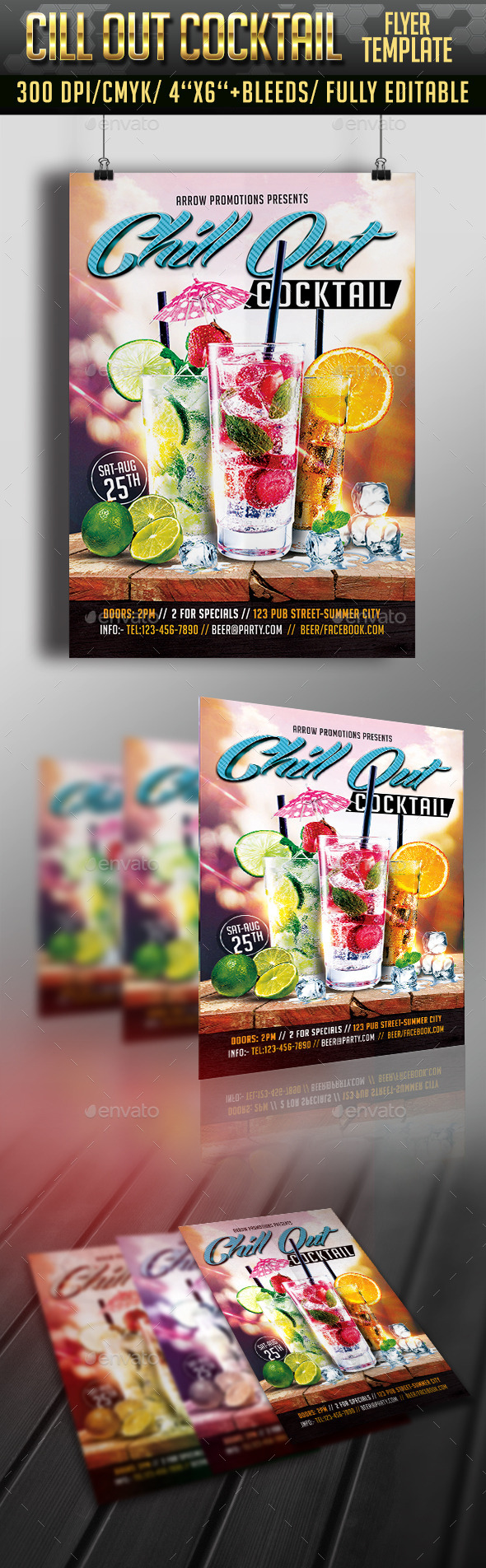 Cocktail Chill Out Flyer - Clubs & Parties Events