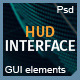 Futuristic HUD Interface XT1: Sci-Fi UI Elements - GraphicRiver Item for Sale