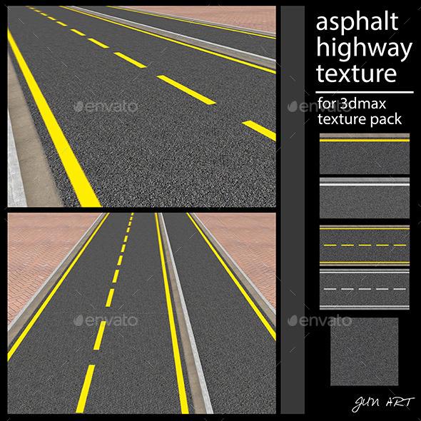 asphalt highway texture - Concrete Textures