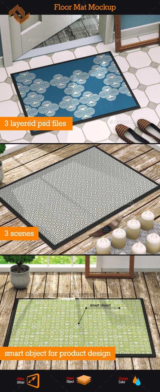 Floor Mat Mockup - Product Mock-Ups Graphics