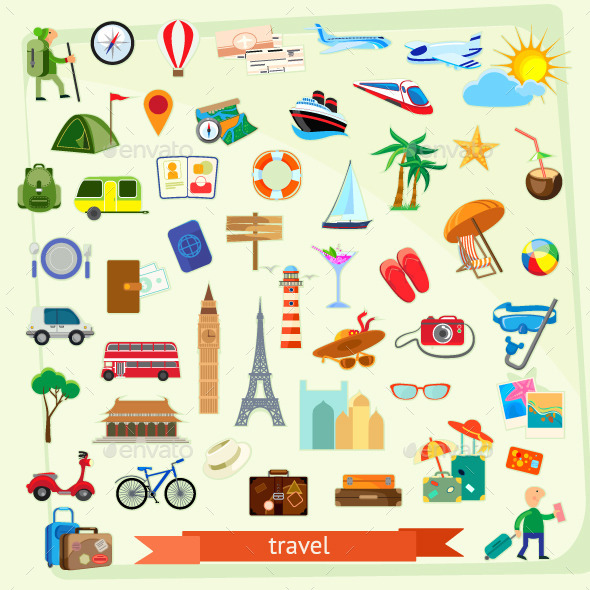 Travel Vector Icons - Vectors