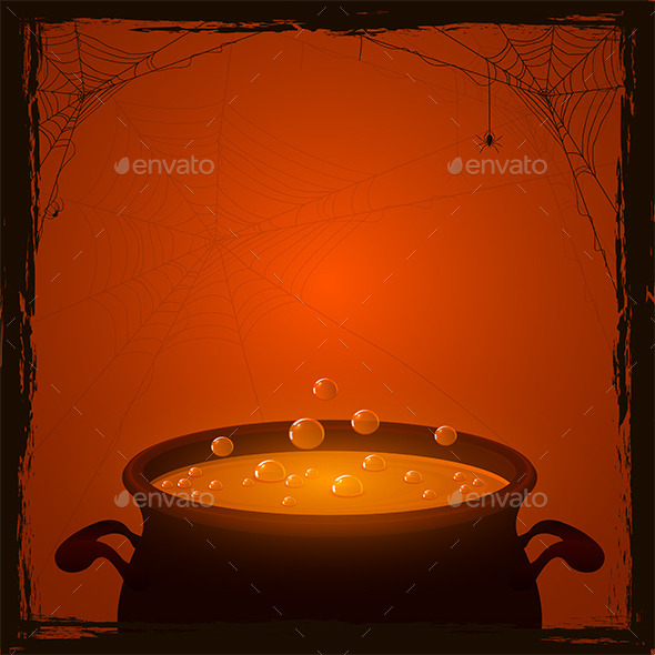 Halloween Pot with Potion - Halloween Seasons/Holidays