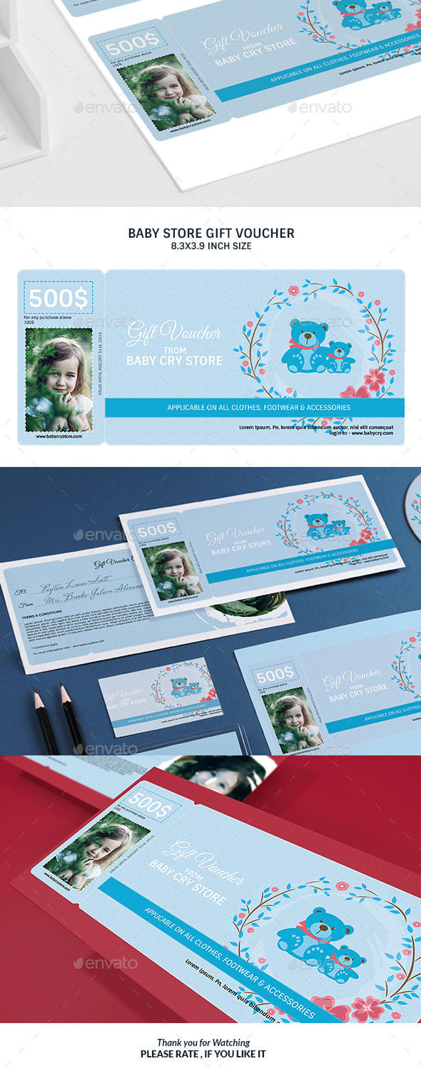 Baby Store Gift Voucher - Loyalty Cards Cards & Invites