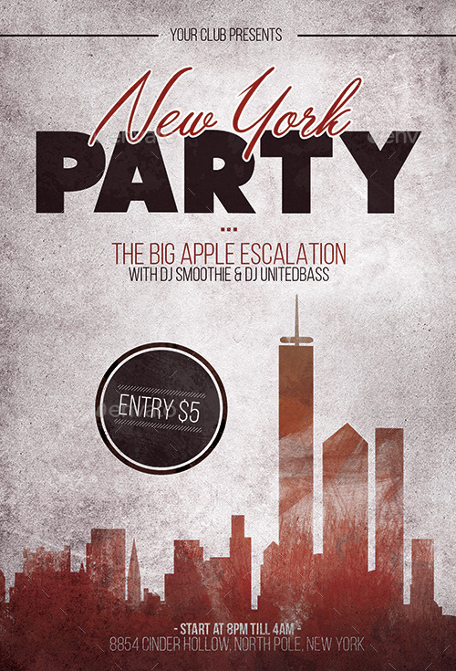 new york party flyer template by flyermarket