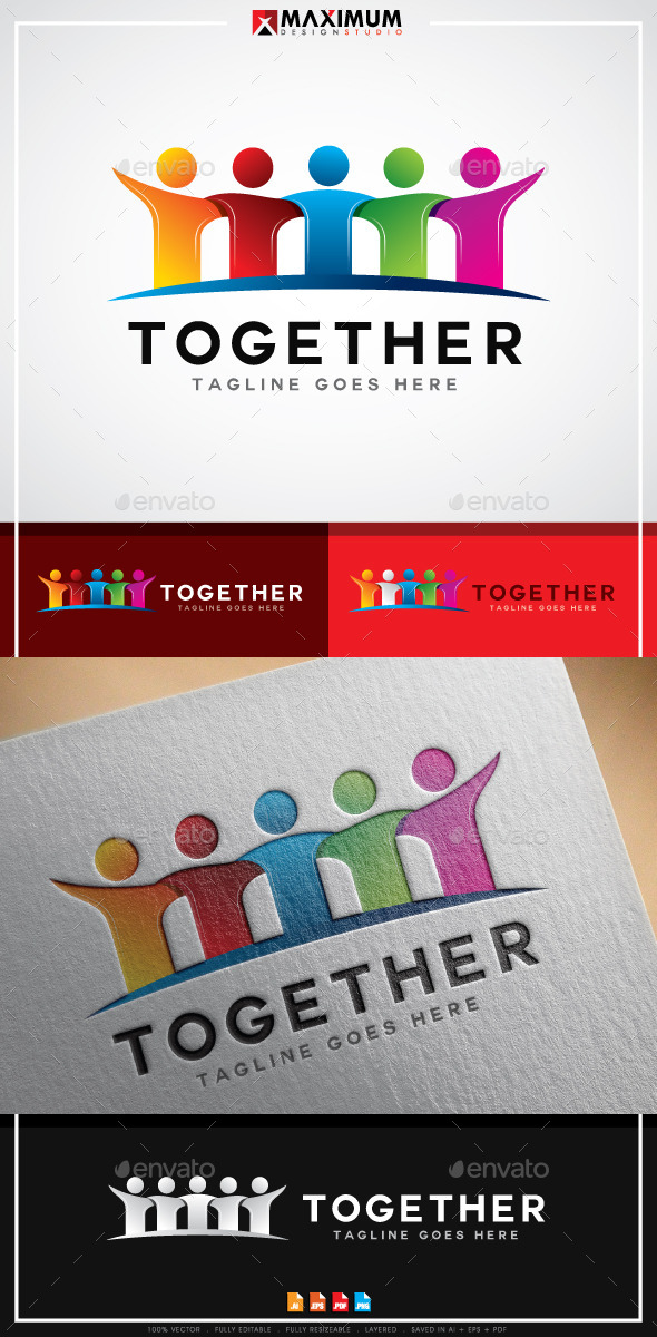 Together Logo - Humans Logo Templates