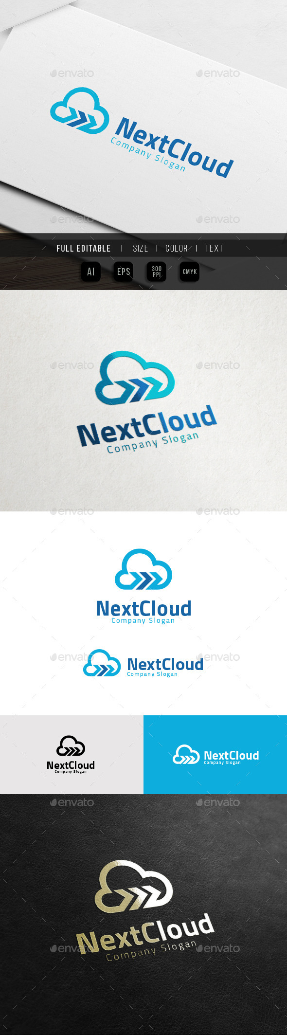Cloud Forward - Data Share Logo - Objects Logo Templates