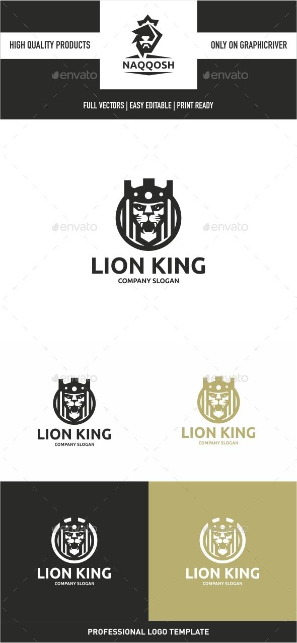 Lion King - Animals Logo Templates