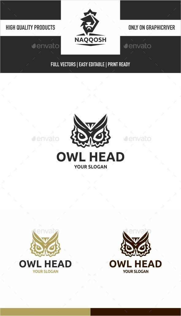 Owl Head - Animals Logo Templates