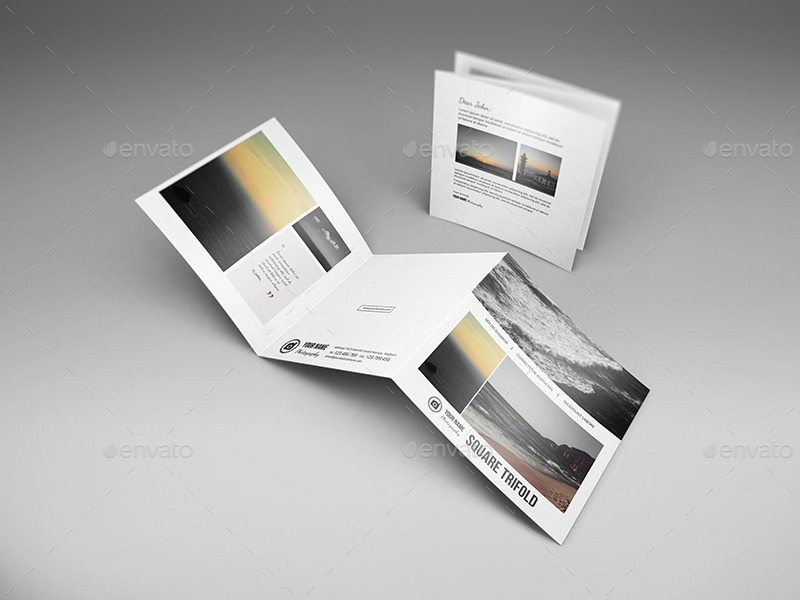 Square Trifold Brochure Mockups By Wutip  Graphicriver