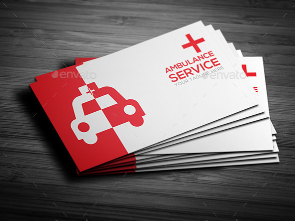 Ambulance service business card by ikkkreative graphicriver ambulance service business card business cards print templates back ag back bg back cg front ag colourmoves