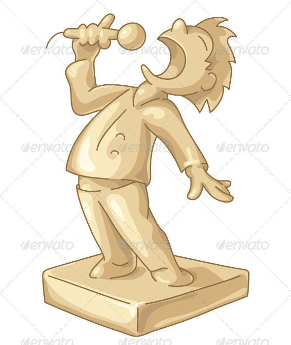 Golden Statuette of the Best Singer - People Characters