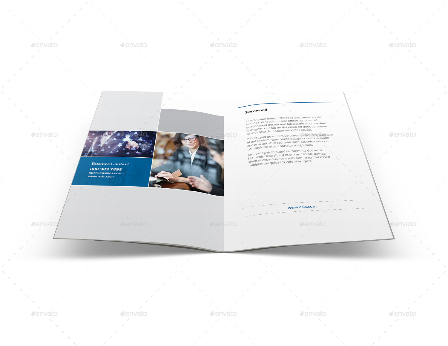 Company profile brochure a5 half letter sizes by mike for Letter size brochure template