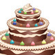 Decorated Chocolate Cake - GraphicRiver Item for Sale