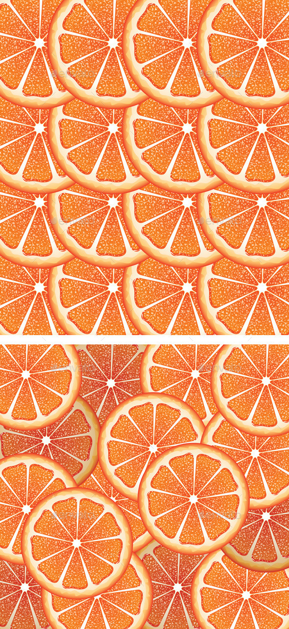 Grapefruit Slices Background - Food Objects