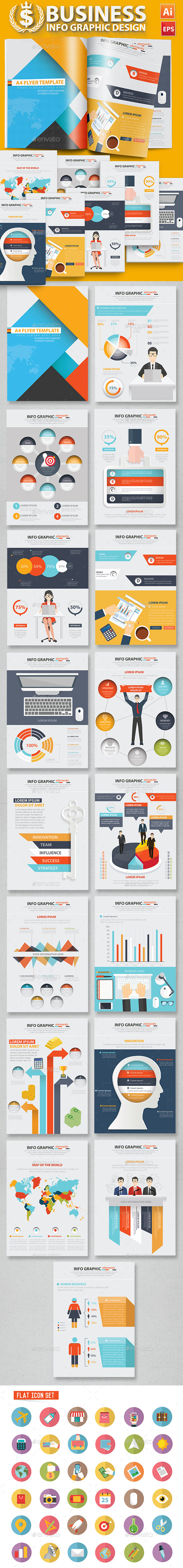 Business Infographic Design 17 Pages - Infographics