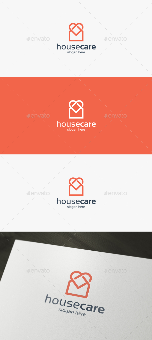 House Care - Logo Template - Buildings Logo Templates