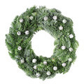 Christmas pine wreath with pine cones on white - PhotoDune Item for Sale