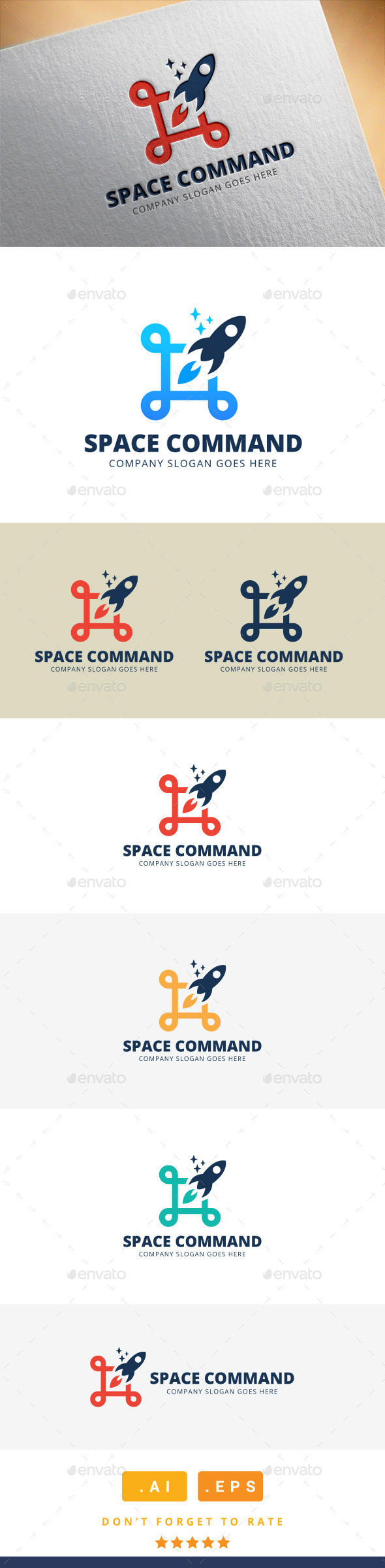 Launch Command Logo - Logo Templates