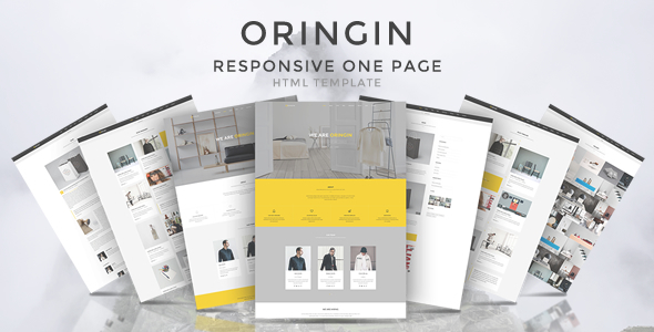 Oringin – Onepage HTML5 Template