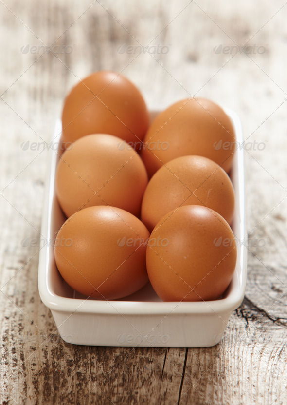 brown eggs - Stock Photo - Images