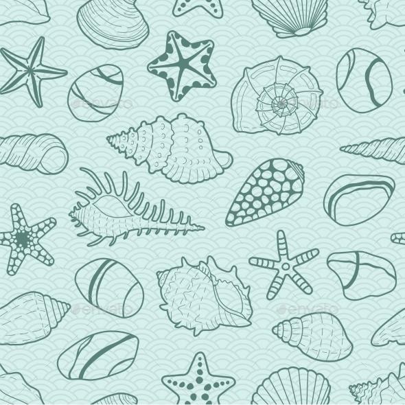 Sea Shells Background - Patterns Decorative