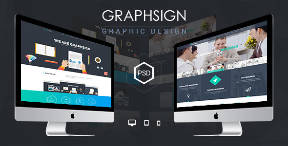 Graphsign – onepage PSD Template