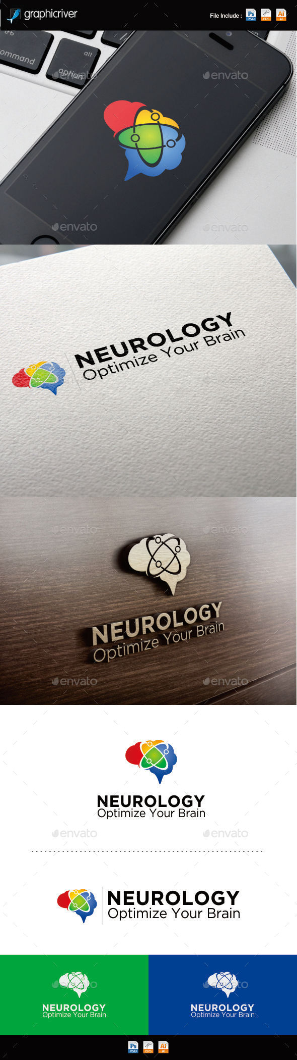 Neurology Optimize Logo - Symbols Logo Templates