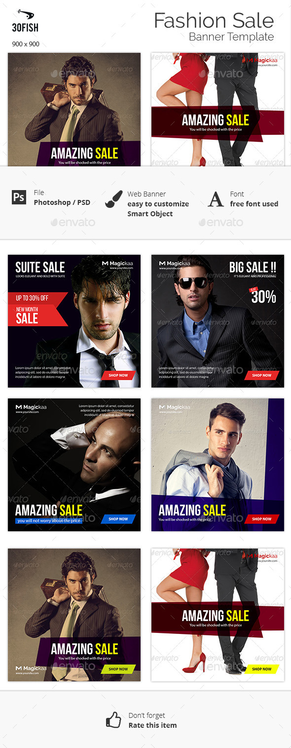 Fashion Sale Banner - Banners & Ads Web Elements