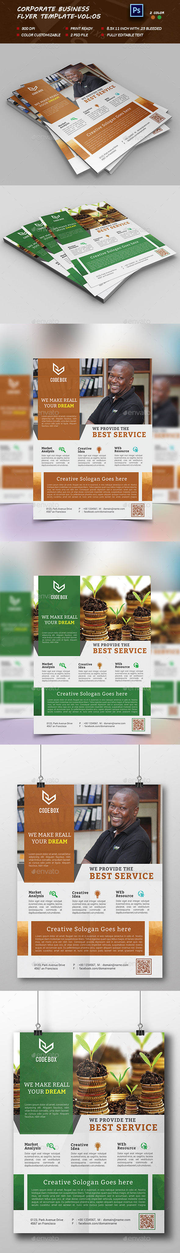 Corporate business Flyer Template vol:05 - Corporate Flyers