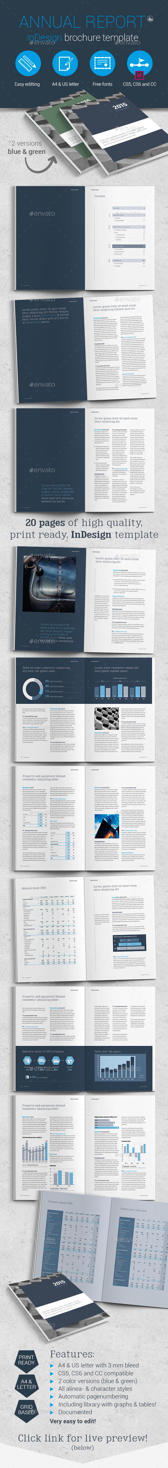 Annual Report Template Brochure - Brochures Print Templates