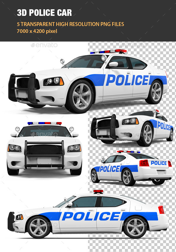 3d Police Car By Nerthuz Graphicriver