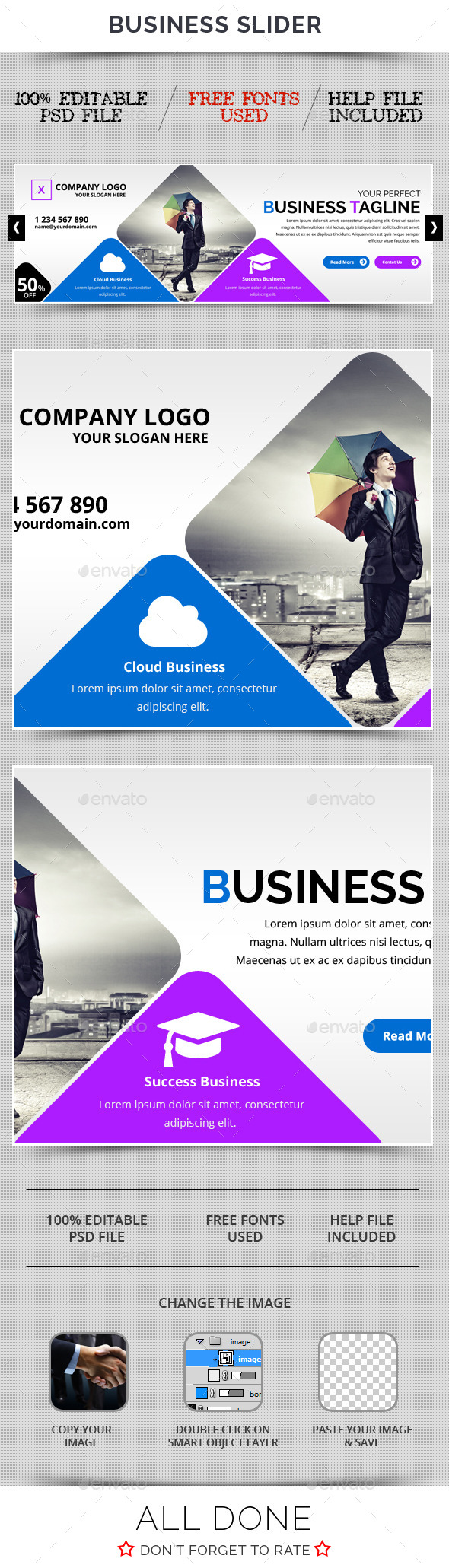 Business Slider V27 - Sliders & Features Web Elements