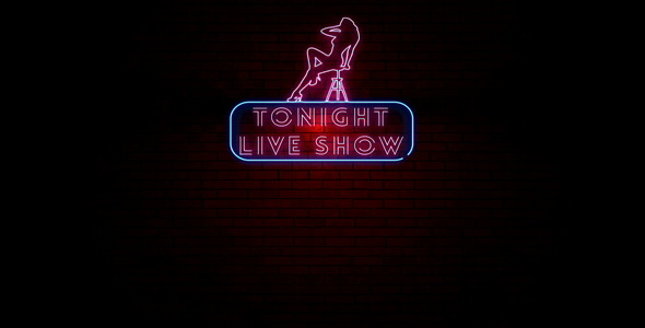 Tonight Live Show Neon Light Sign