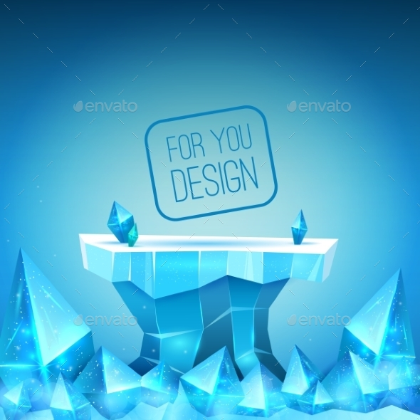 Ice Backdrop - Backgrounds Decorative