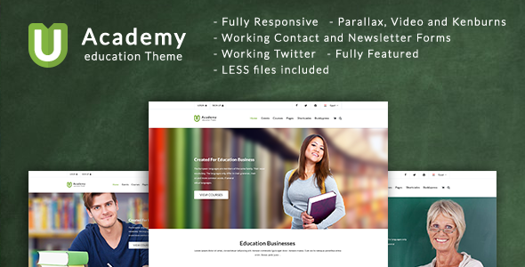 Uacademy - Learning System HTML Template - Corporate Site Templates