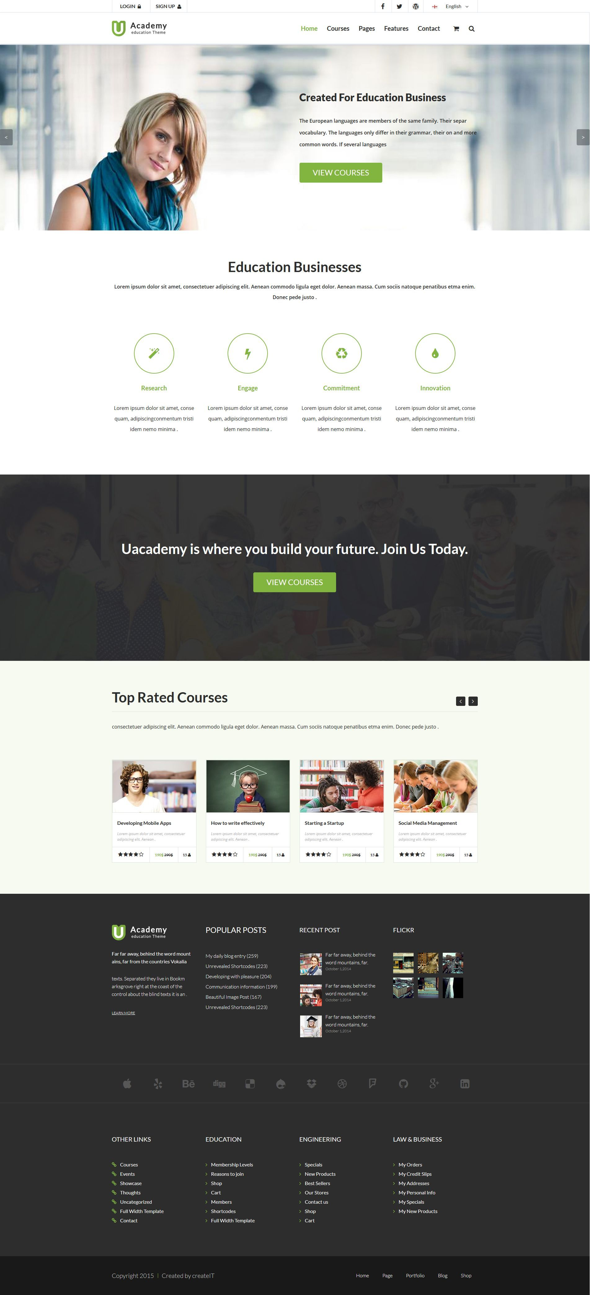 Uacademy - Learning System HTML Template by createit-pl   ThemeForest