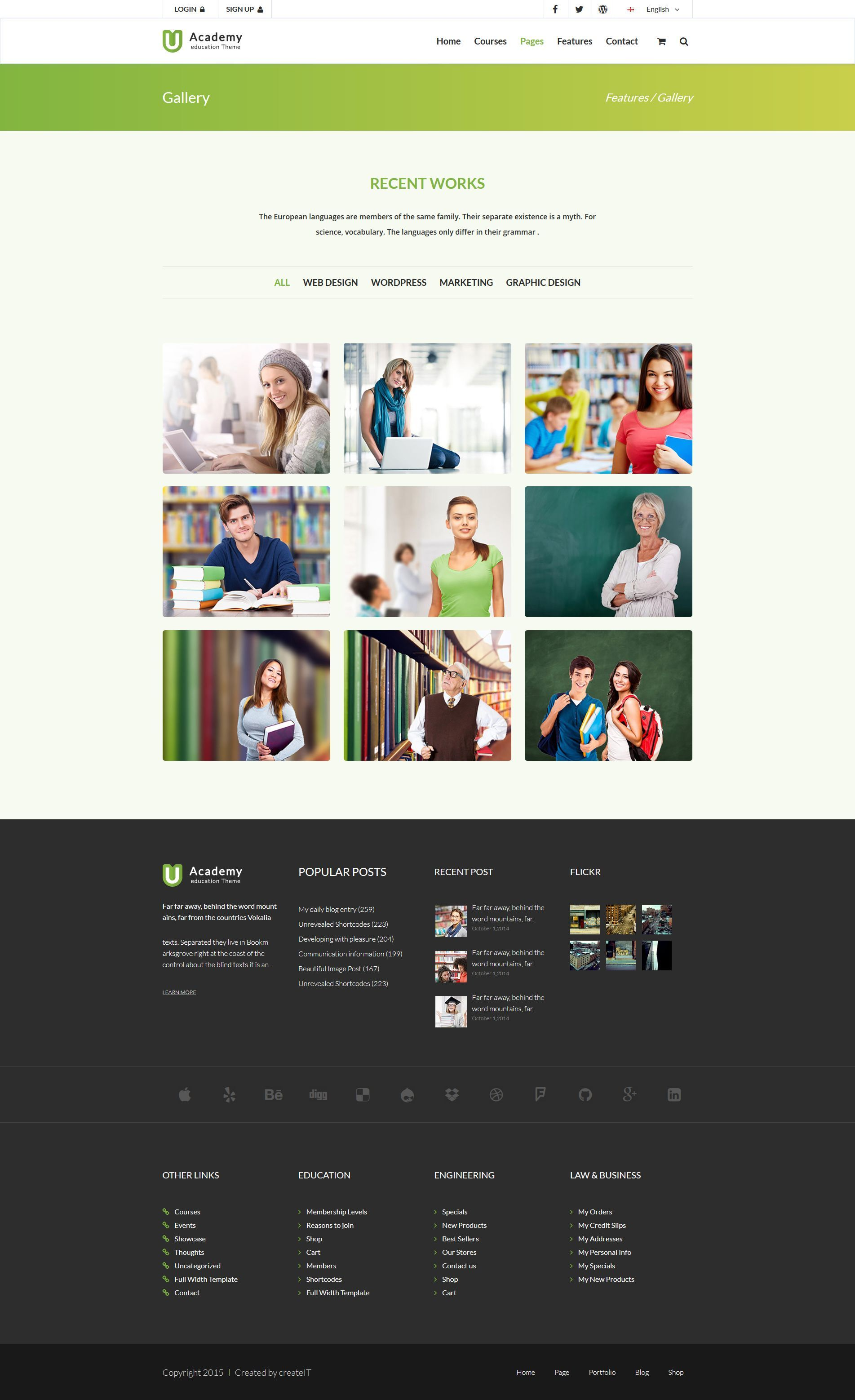 Uacademy - Learning System HTML Template by createit-pl | ThemeForest