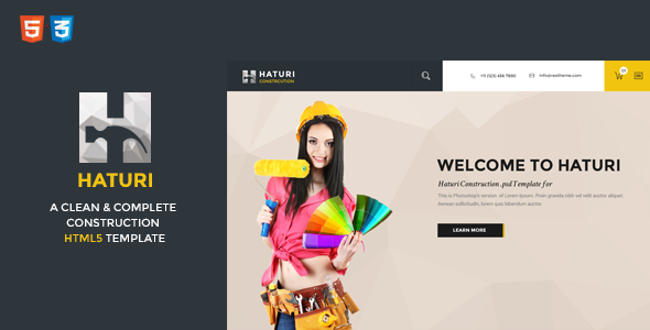 Haturi Construction Business HTML5 Template