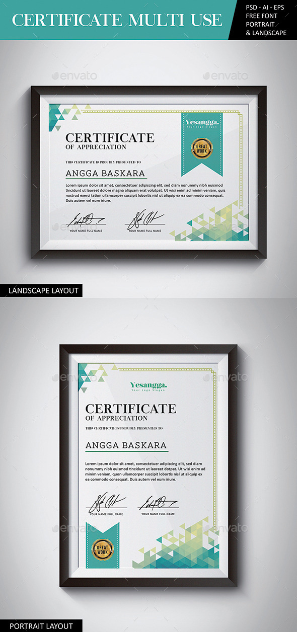 Certificate Multi Use - Certificates Stationery